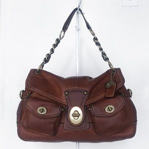 Coach Legacy Leigh Whiskey Leather Satchel Hobo